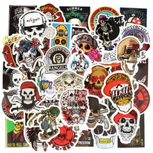 50 pièces autocollants crâne Graffiti squelette fantôme Punk Rock moto autocollant jouets bricolage ordinateur portable Skateboard valise casque guitare voiture