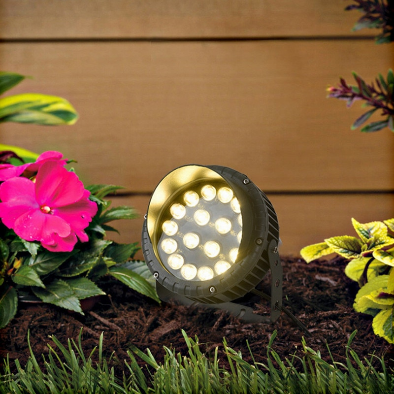Colorful Landscape Ground Lamps Tree Light Park Outdoor IP65 Waterproof RGB Gazebo Garden Spotlight for Lawn Patio Pathway 220V enlarge