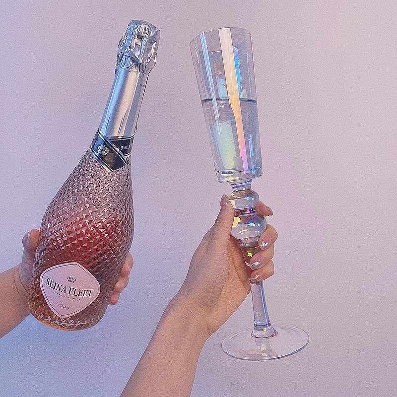شفافة الإبداعية الشمال الشمبانيا كأس للنبيذ الفن السحر من طقم حفل الزفاف كأس من الزجاج فيري دي الشمبانيا كاسات صغيرة BK50XB