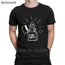 Firewalk briquet la vie est étrange avant t-shirt comique intéressant créer Normal col rond Normal été coton chemise