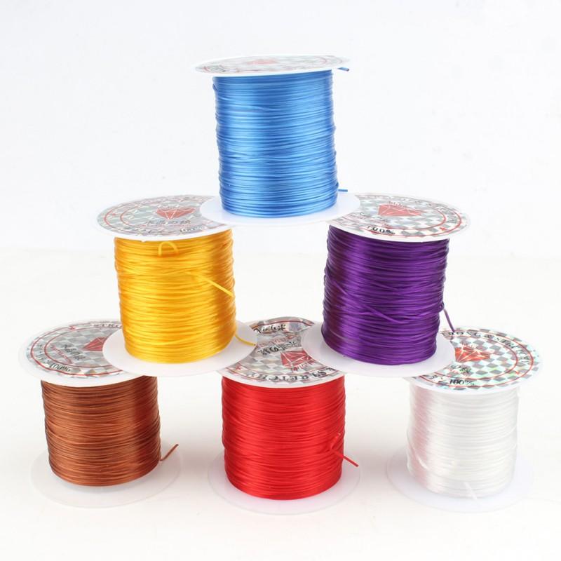 1 rollo de cuerda elástica de 0,8mm, cuerda elástica, accesorios DIY para cuentas para confeccionar joyas, pulsera, collar, cordón de 10m