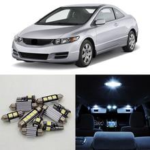 8pcs White Led 12V Auto Interior Car Lighting Kit For Honda Civic 2006-2011 Map Dome Trunk License Plate Lamp