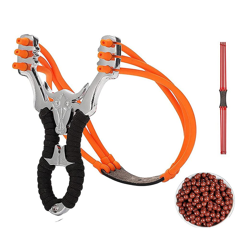 hunting slingshot fishing catapult powerful outdoor shooting slingshot with rubber band game sling shot darts Powerful Slingshot Outdoor Hunting Slingshot Set Professional Rubber Band Outdoor Fishing Hunting Bow Catapult Adult Toy