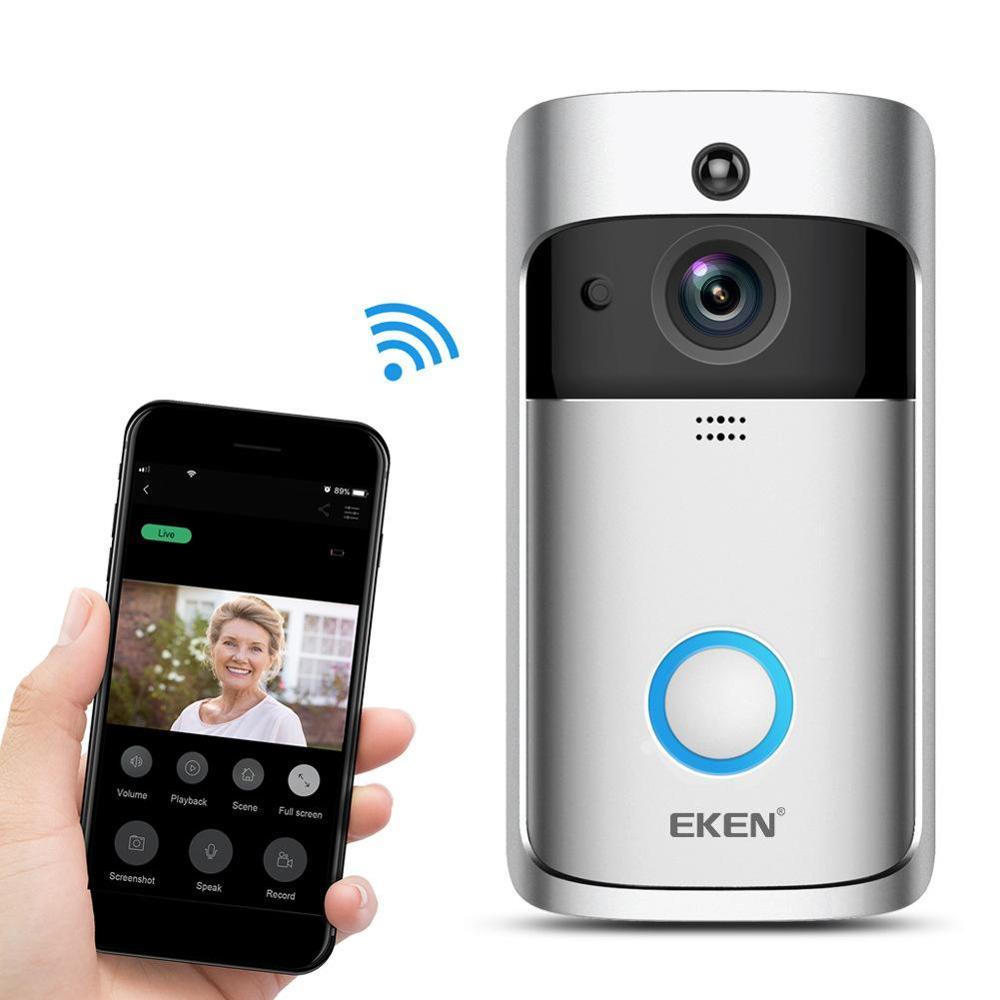 Smart Home V5 Wireless Camera V7 Video Doorbell 1080P HD WiFi    Security Smartphone Remote Monitoring Alarm Door enlarge