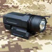 LED Shotgun Rifle Glock Gun Flash Light Tactical Torch Flashlight with Release 20mm Mount for Pistol