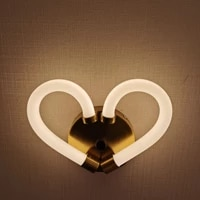 nordic modern new designer wall lamp led acrylic luminous sconce aisle gold bedroom bedside mirror lighting indoor ring lights