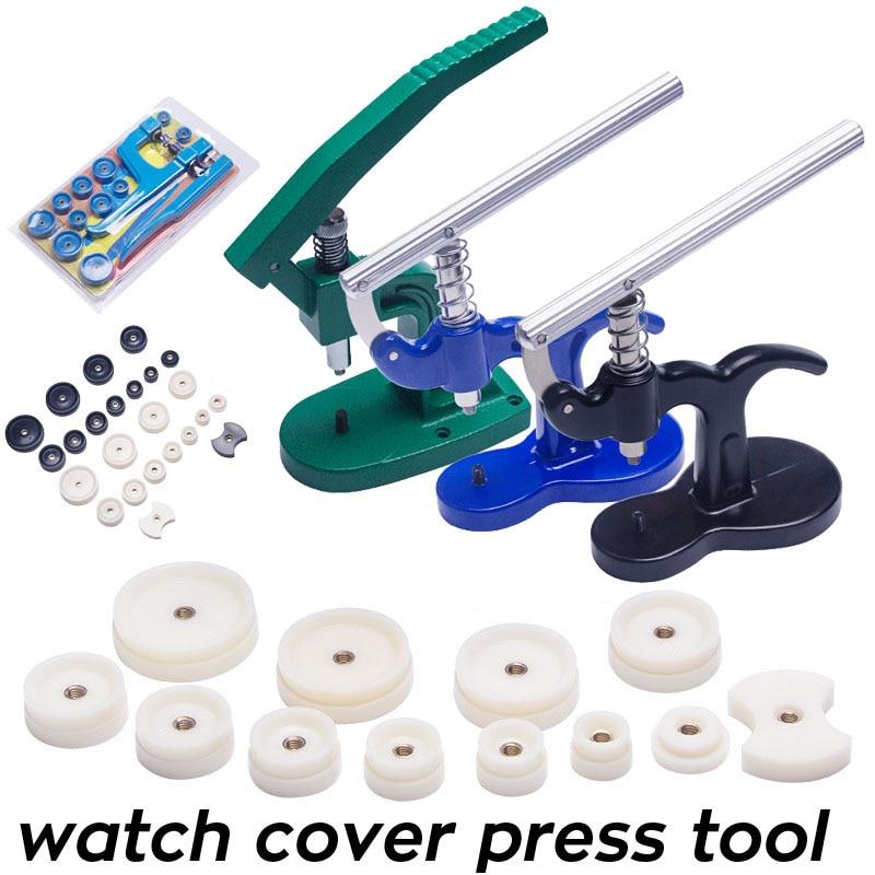 Case de Relógio Ferramenta Imprensa Relógio Encaixe Dados Volta Capa Removedor Mais Perto Pressionando Máquina Capper Presser Kit Reparação Ferramentas
