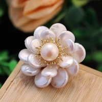 coeufuedy natural freshwater pearl brooches for women party baroque pearl flower brooch luxury pearl brooches handmade elegant