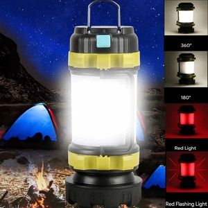 4 Modes Portable LED Flashlight USB Rechargeable Flashlight AND Lantern Zoomable Torch Camping Lights