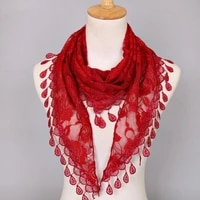 summer ladies lace scarf flexible womens triangle bandage floral scarf shawl wedding gift scarf luxury brand design