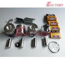 For Yanmar 4D106 4TNE106 4TNE106T piston+piston ring+gasket kit+bearing