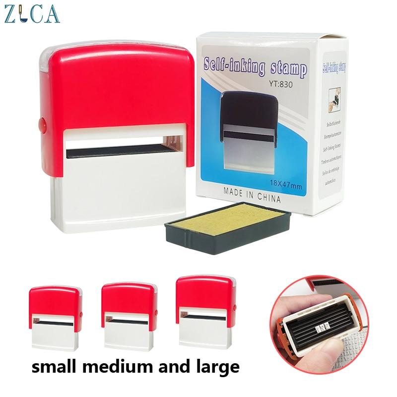 Diy auto-inking personalizado nome do negócio número endereço impressão em branco selo typeface combinação mini selo personalizado por si mesmo