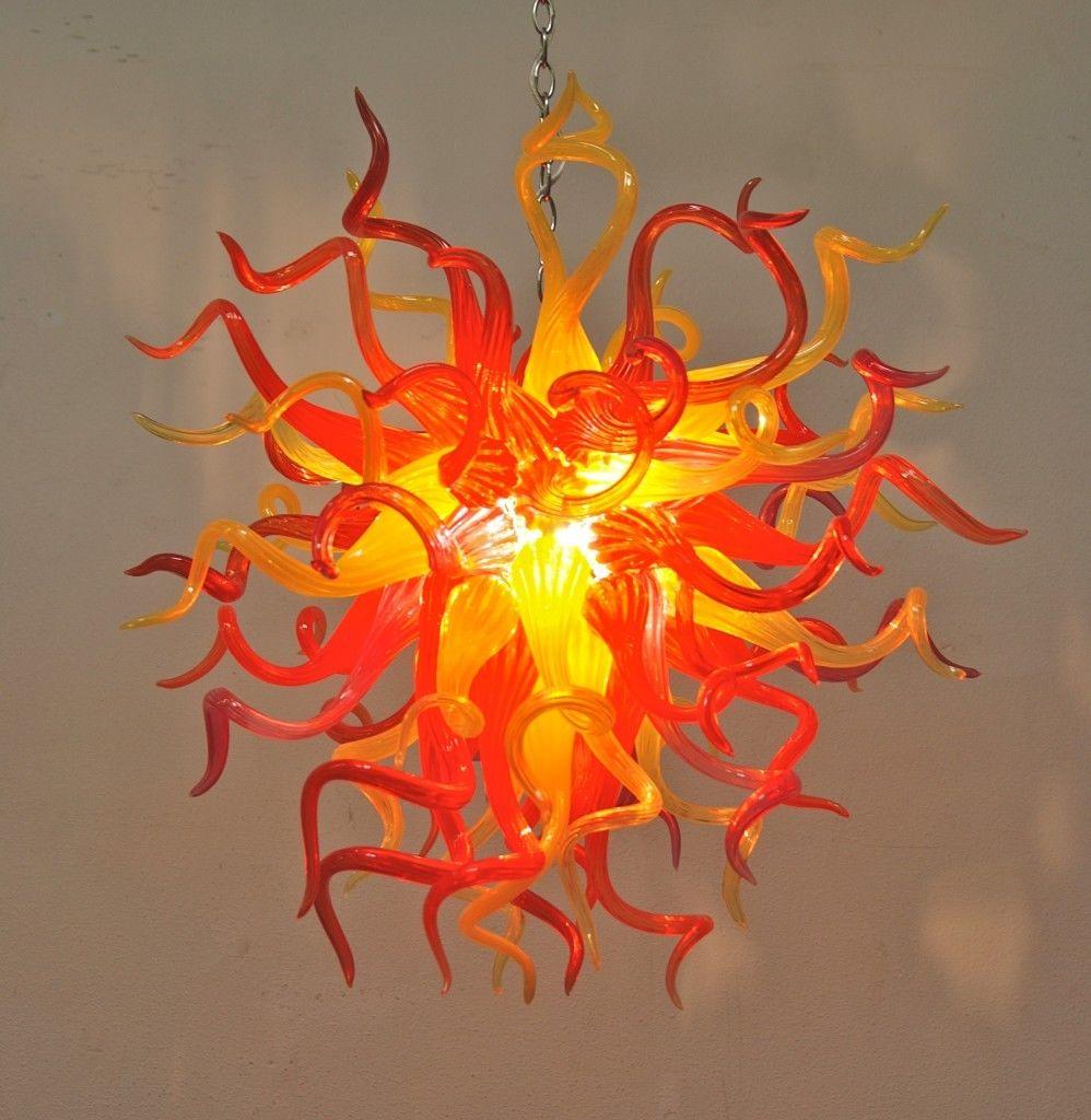 الحديث Led اليد الزجاج المنفوخ الثريا مصابيح متدلية في المدخل مصباح السقف لمطعم تركيبات الإضاءة المنزلية الديكور