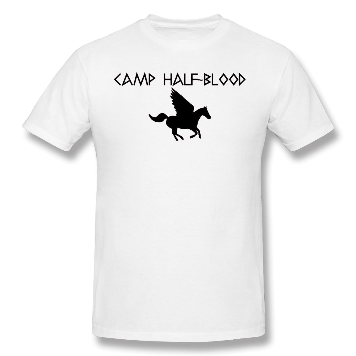 Camiseta Lost para hombres campamento media sangre gracioso cuello redondo Camiseta de algodón