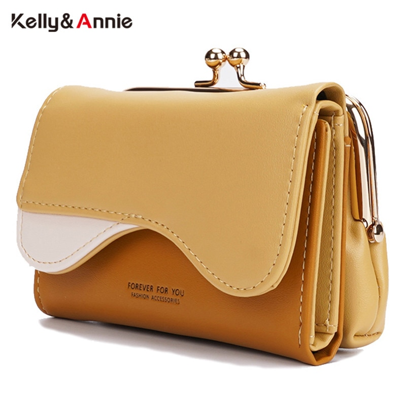 AliExpress - Brand Designer Separable Clip Women Wallet Short Panelled Female Wallets Pu Leather Small Trifold Ladies Coin Purse Card Holder