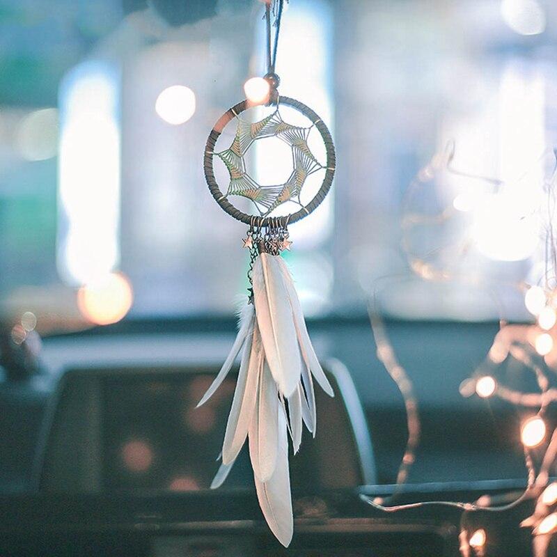 Dream Catcher Car Accessory Interior For Girls Feather Car Mirror Hanging Pendant In Auto Home Decor Car Ornaments
