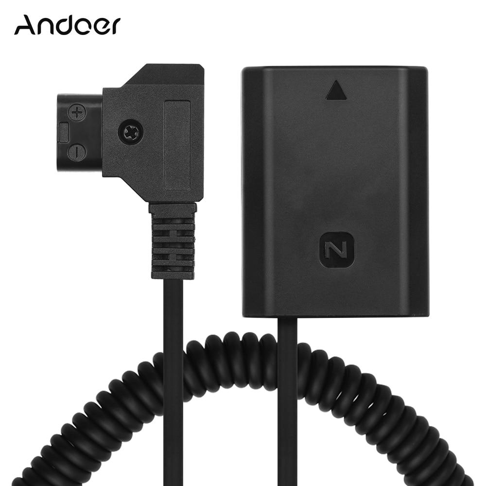 Andoer D-الحنفية إلى NP-FZ100 DC المقرنة محول فك الشفرة بالكامل الدمية بطارية التبعي لسوني A9 A7R3 A7M3 A7S3 A7SM3 كاميرات
