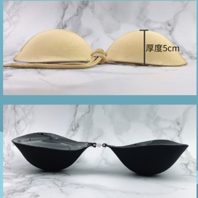 New invisible underwear silicone invisible bra with 5cm thickened breast patch