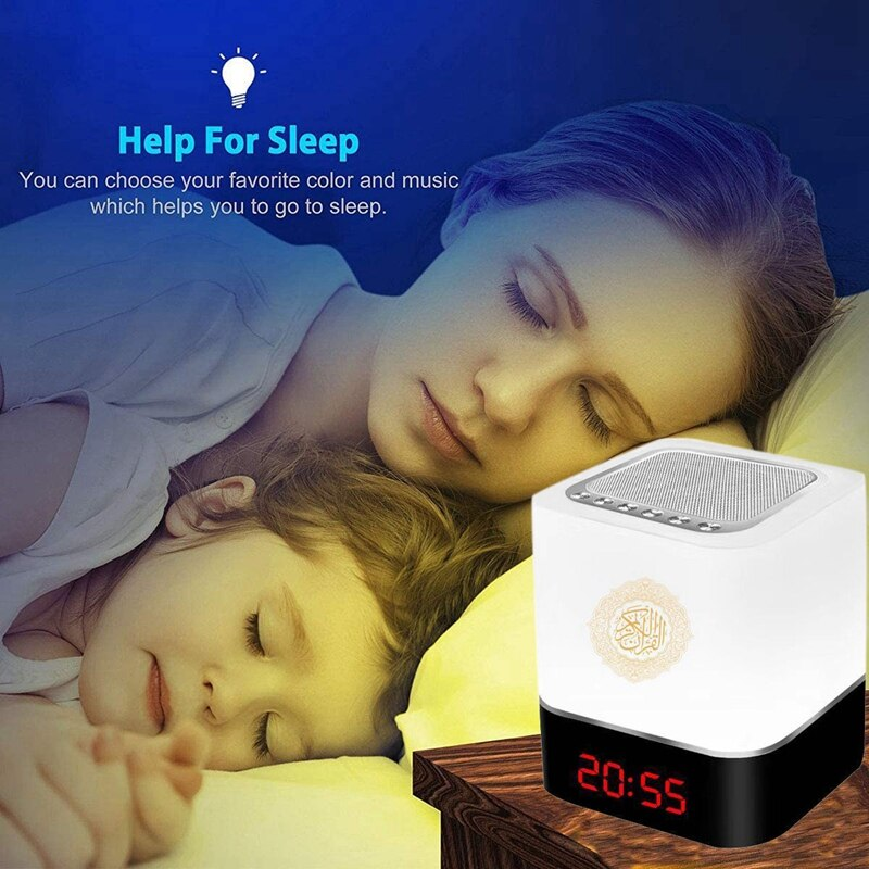 Colorful LED Night Light Moon Lamp Home Speaker Wireless Speakers Muslim Quran Speaker Ramadan Festival Gifts