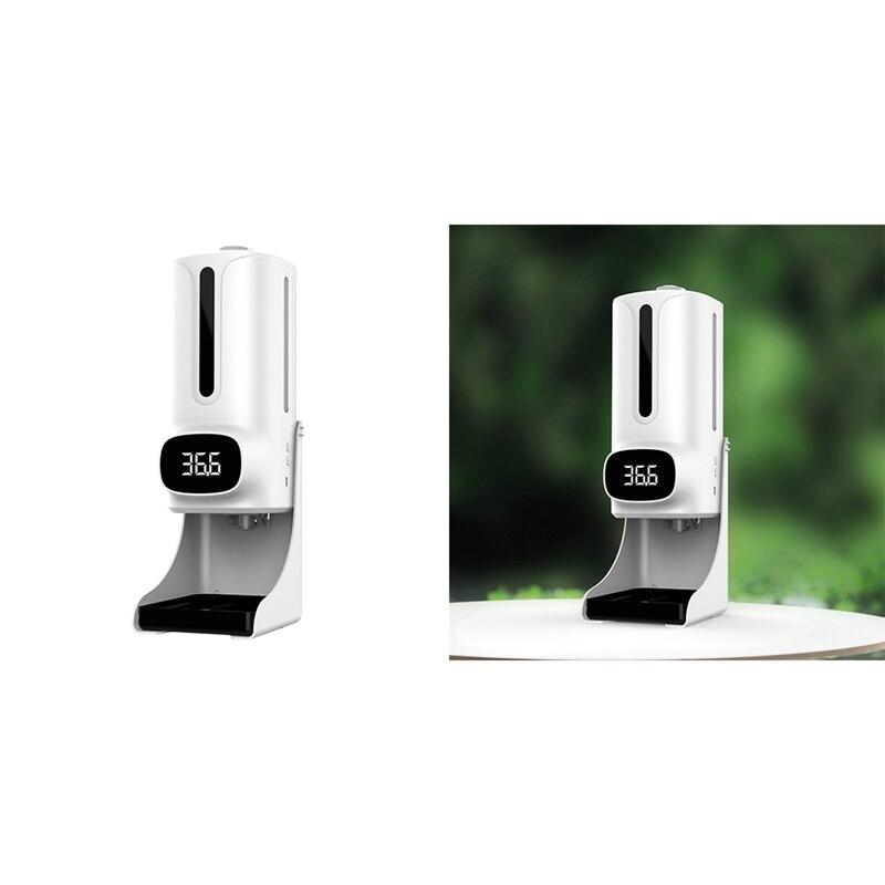 2 في 1 K9 برو زائد عدم الاتصال الرقمية الأشعة تحت الحمراء ميزان الحرارة غسل اليد موزع الصابون آلة Termometro 1200 مللي