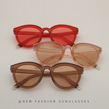 Cute Patchwork PC Frame Sunglasses For Women Candy Color Small Round Decorative Sun Glasses UV400