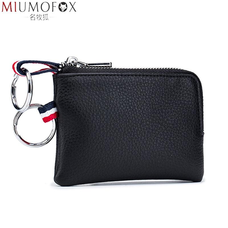 AliExpress - Mini Purse for Men Wallet Women Genuine Leather Zipper Brand Short Lady Small Slim Key Case Women's Wallets Male Thin Portomonee