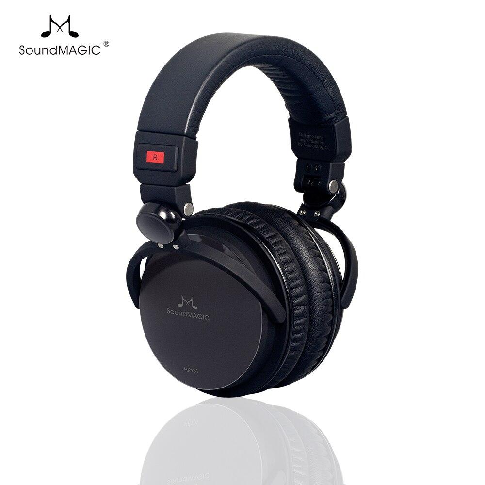 SoundMAGIC HP151, auriculares por encima de la oreja de alta fidelidad, auriculares plegables de respaldo cerrado, auriculares para audiófilo