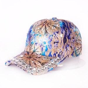 2021 New Hat Spring summer Baseball Cap Women's with Diamond    Ladies  Rhinestone   Sun Hat