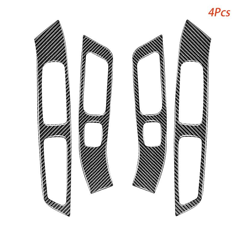 Carbon Fiber Window Lifter Decoration Stickers for Volvo V60 (2010-2017) S60 (2010-2018) Automotive Interior Accessories