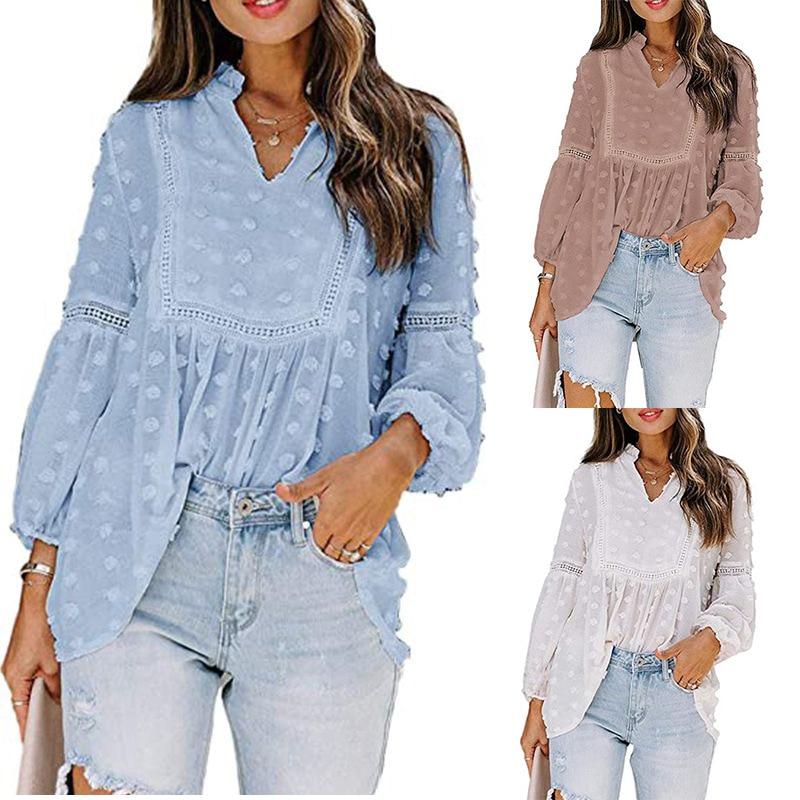 Женские топы, женские рубашки, блузки, повседневные свободные рубашки с длинным рукавом, женские блузки оверсайз и топы, винтажная уличная о...