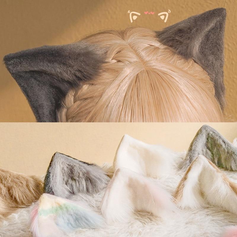 Головной убор Lolita Косплей кошка клипса для уха резинки для волос зайчик дизайнер Kawaii заяц на голову аниме аксессуары японские волосы