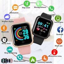 2021 Smart Watches Men Women Smartwatch Heart Rate Step Calorie Fitness Tracking Sports Bracelet
