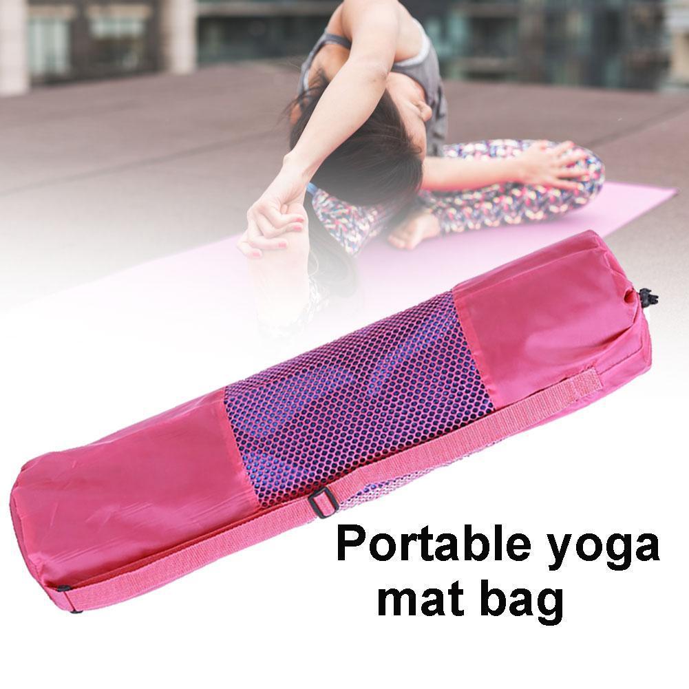 Portable Folding Gym Fitness Yoga Mat Blanket Carry Pouch Oxford Cloth Shoulder Bag Lightweight Adjustable Shoulder Strap Bags