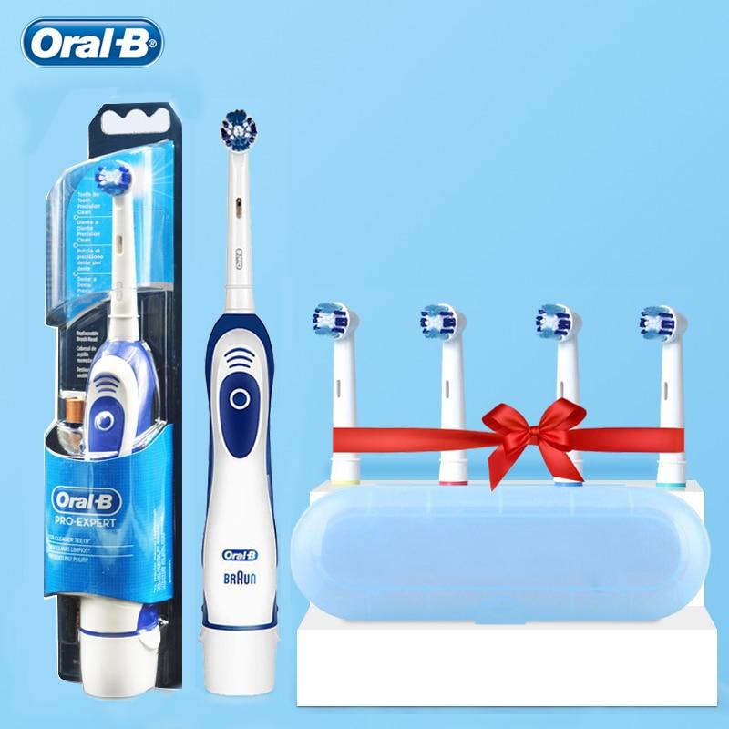 Электрическая зубная щетка Oral B Sonic Precision с таймером и 4 сменными насадками