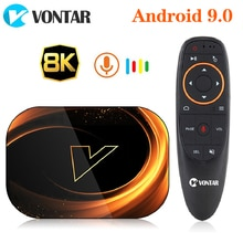 2020 TV BOX Android 9 VONTAR X3 4GB 128GB 8K Smart Android TV BOX 9.0 Amlogic S905X3 Wifi 1080P 4K décodeur 4GB 64GB 32GB
