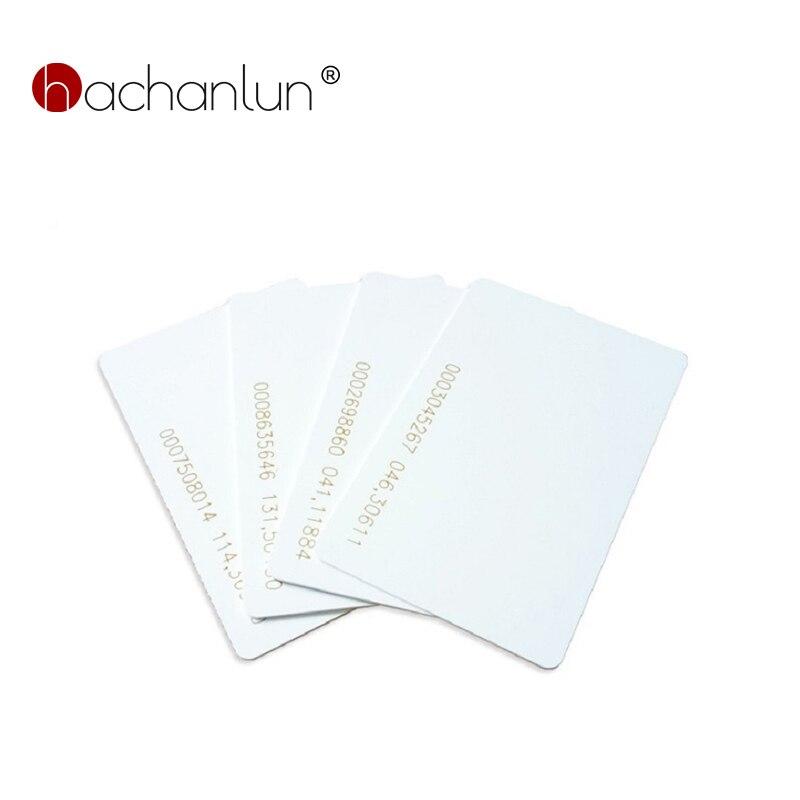 EM4100 Tk4100 125khz Weiße Karte 0,85mm Tags Proximity Chip Dünne Karten Access Control Zubehör Keyfob RFID Tag 5/10 stücke