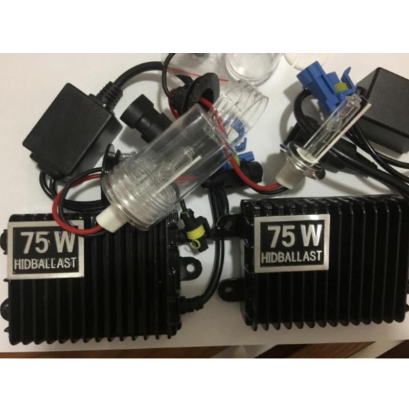 75W Xenon HID Kit Schnelle Starten H8 H9 H11 H1 H3 H7 HB3 HB4 9005 9006 880 D2 D2S d2H 4300K 6000K 8000K Schnelle Helle 75w Xenon Kit