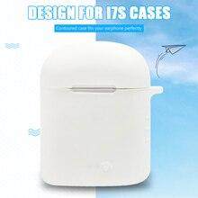 Cubierta protectora anticaída de silicona para i7S TWS Protector de auriculares Bluetooth cubierta de caja a prueba de polvo para i7S TWS caja de auriculares