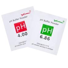20 unids/lote, solución tampón de calibración PH, solución tampón, 4,00 y 6,86, punto de calibración, 20% de descuento
