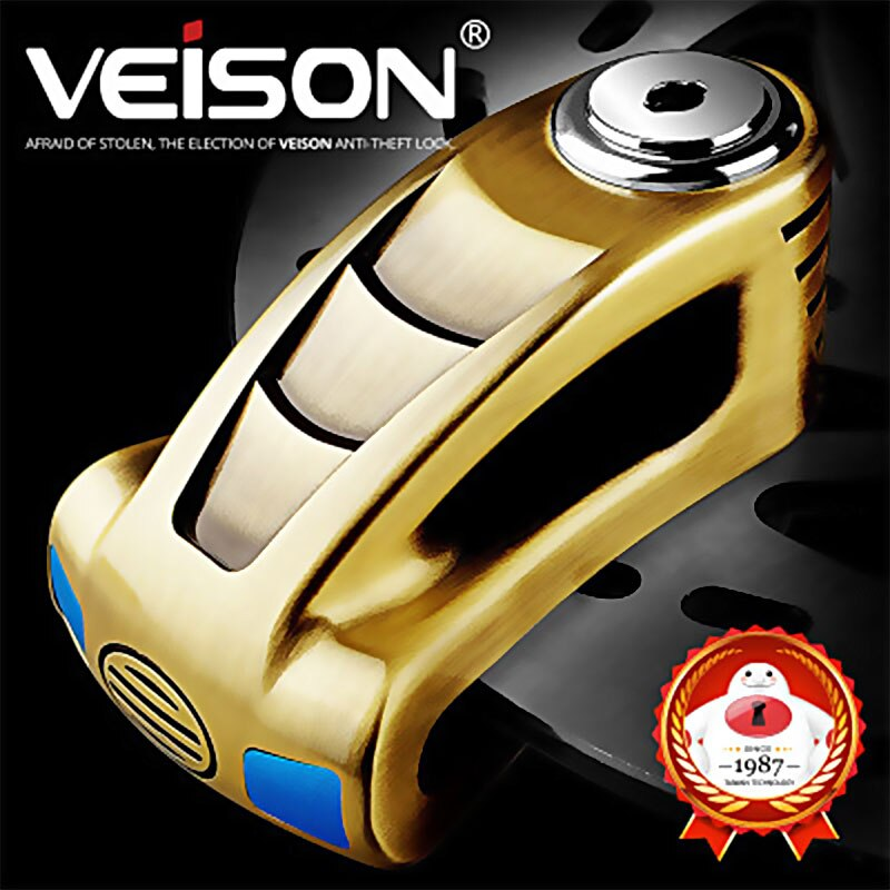 motorcycle waterproof alarm disc lock bike metal disc lock motocross warning security anti theft brake rotor alarma padlock VEISON Safety Disk Lock Bicycle Anti-Theft Motorcycle Scooter Rotor Brake Waterproof Padlock Safety Motorcycle Disc Brake Lock