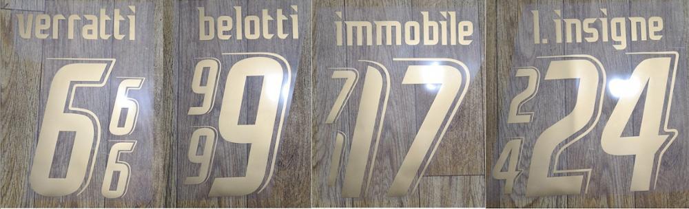 2006 ITALY VERRATTI BELOTTI IMMOBILE L.INSIGNE nameset patch badge