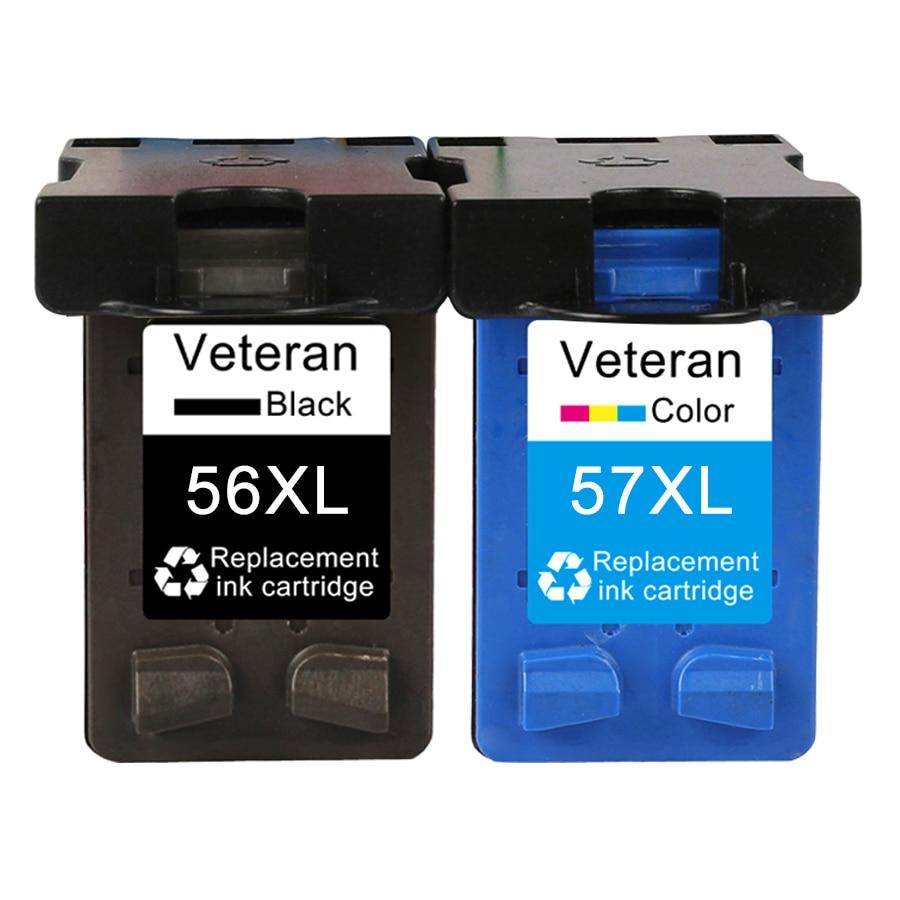 Veterano 56 replacementfor hp 56 C6656a 57 xl Cartucho de Tinta para hp Deskjet F4180 5150 PSC 450CI 5550 5650 9650 1315 2110 2210