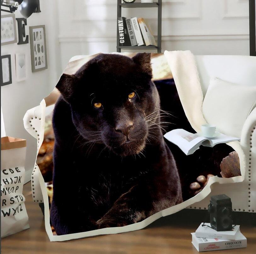 LIASOSO 3D estampado Animal fresco leopardo Jaguar felpa microfibra ropa de cama fina manta edredón cama sofá hogar manta adultos niños