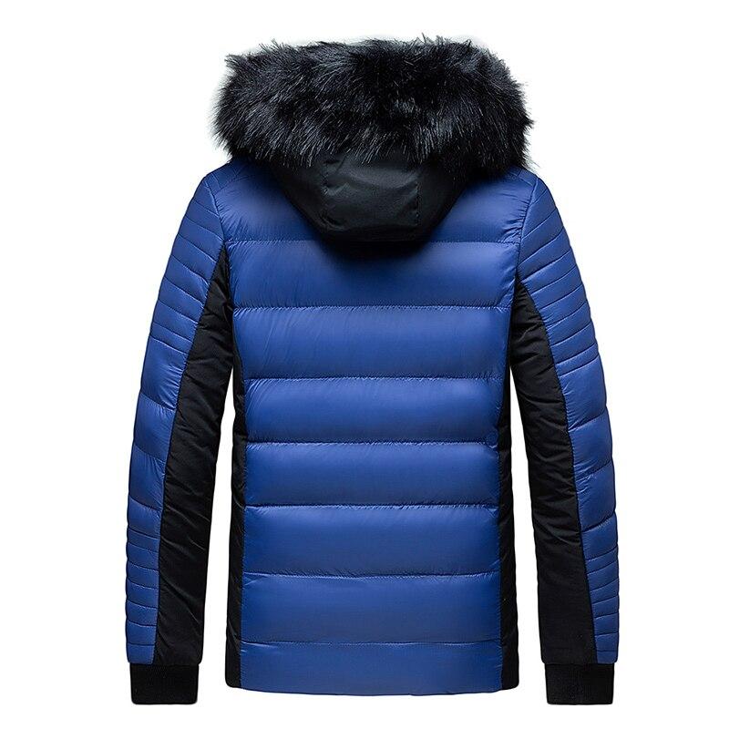 Winter Mens Plus Velvet Parka Coat Fur Collar Hooded Cotton Jackets 2021 Thick Warm Parkas Coat Zipper Jacket Casual Parkas Men