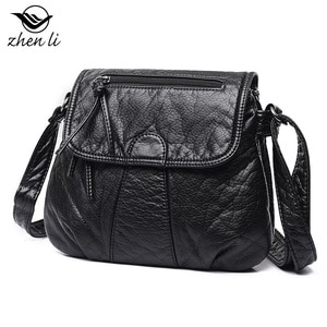 2021 New Arrivals Women's PU Leather Shoulder Bags Fold Appearance Design High Quality Retro Style Black Solid Color Girl's Bag