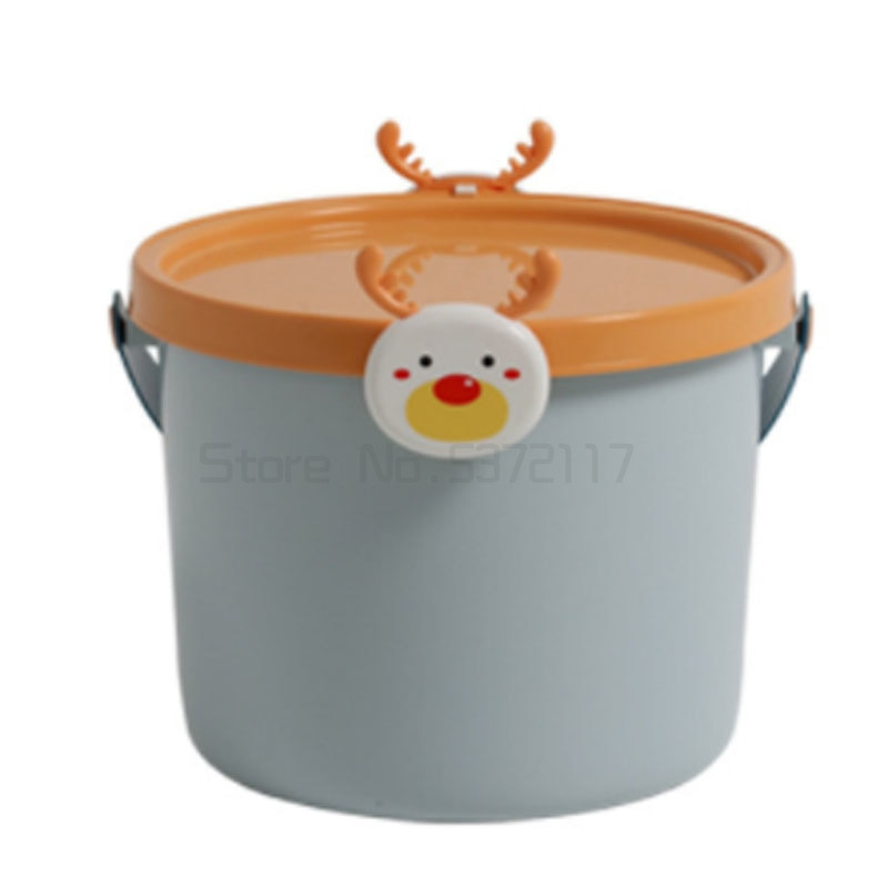 لطيف الأطفال اللعب بنة تخزين دلو صندوق تخزين سلة وجبات خفيفة الطفل ليغو صندوق تخزين الكرتون التشطيب مع غطاء