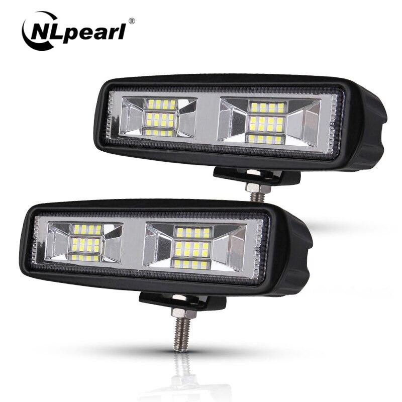 Conjunto de luces antiniebla Led nlperla para coche 4x4 48W Barra de luces Led para camiones Jeep ATV SUV DRL foco LED