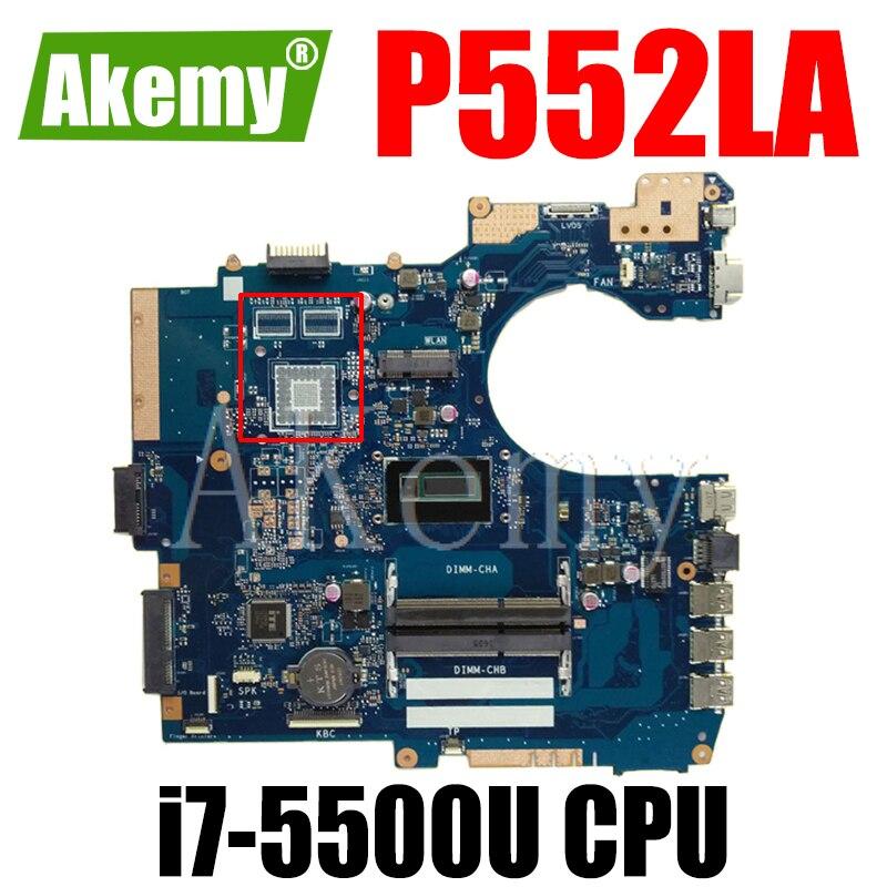 جديد! ل For Asus P552LJ P552LA P552L PRO552L PRO552LJ P2520LA P2520LJ Mianboard اللوحة المحمول 100% اختبار موافق W/ i7-5500U SR23W