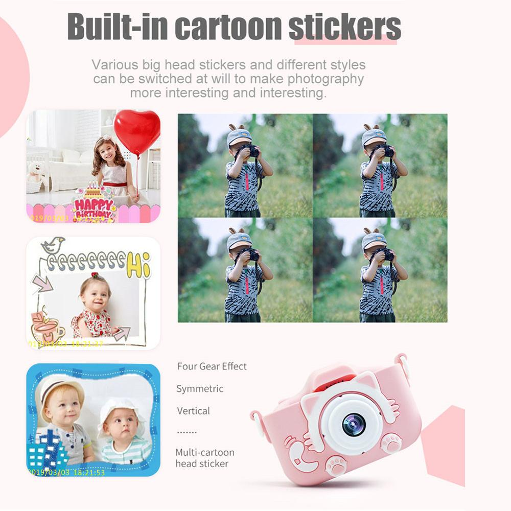X5S 2.0'' 20MP Mini Kids Camera IPS Screen HD 1080P Children Digital Photo Camera Toy with 600mAh Lithium Battery Christmas Gift enlarge