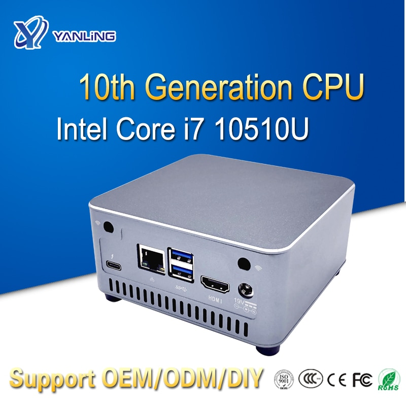 Yanling High-performance Powerful Energy-saving Slim Computer N302F i7 mini PC with intel 10th Gener